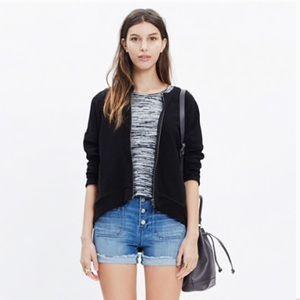 MADEWELL black zip front texture jacket, M